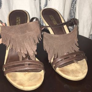Kenneth Cole Reaction heels with fringe